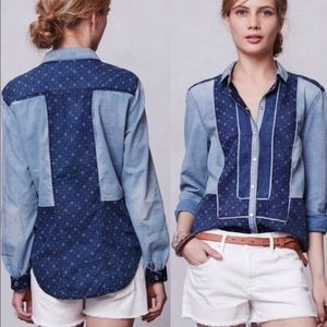 Anthropologie Holding Horses Button Down